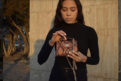 Bronze Snake Mini Bag