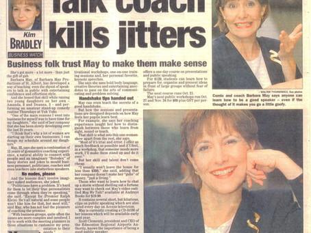 Talk coach kills jitters