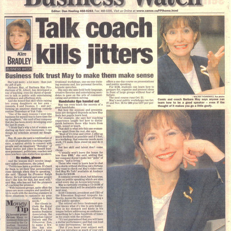 Talk coach kills jitters