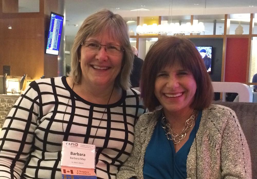 Barbara May and Judy Carter at the 2016 CAPS Conventio