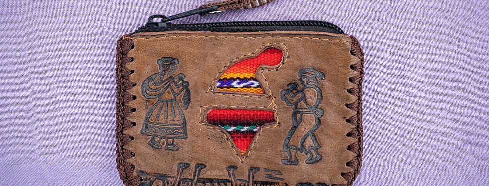 Peru Leather Pouch