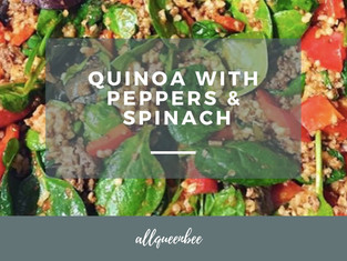 QUINOA WITH PEPPERS AND SPINACH
