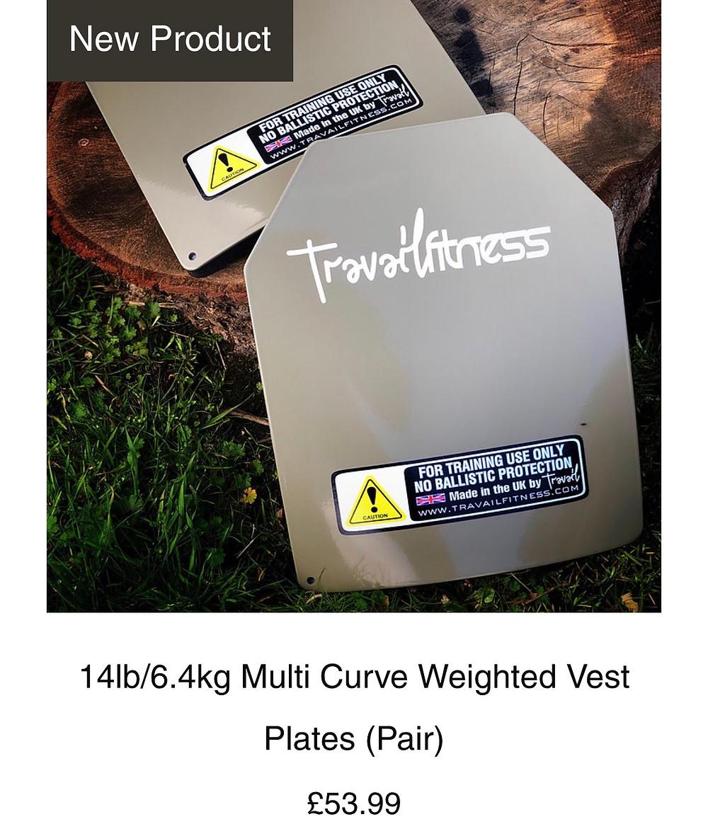 14lb/6.4kg multi curve training plates travail Fitness