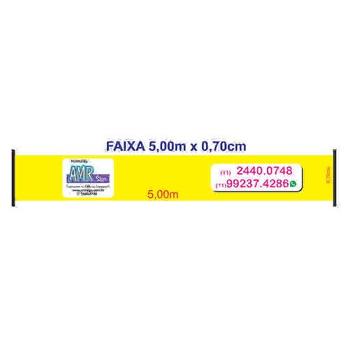 01 FAIXA 5,00m x 0,70cm - LONA GROSSA 380grs