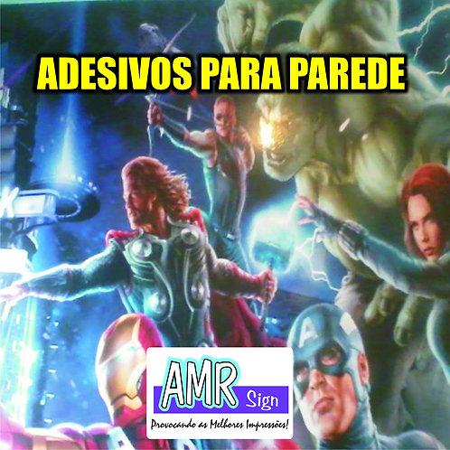 ADESIVO DE PAREDE - 3m x 2m - PERSONALIZADOS