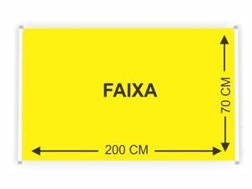 01 FAIXA 2,00m x 0,70cm - LONA FINA 280grs