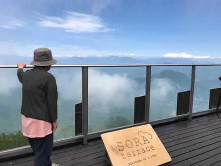 湯田中温泉 旅館はくらに泊まる『竜王SORAテラス』一泊二日プラン