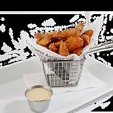 Seasoned Wedge Fries (1/2 portion)