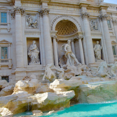 Trevi Fountain in Rome, Ital
