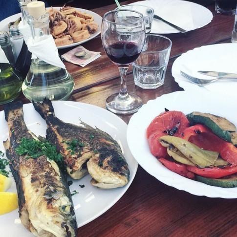 Dinner in Split, Croatia.