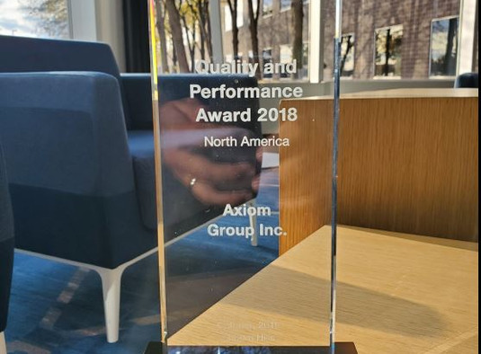 Axiom has been awarded the Brose Quality and Performance award 2018!