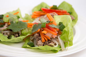 Turkey Shrimp Lettuce Wraps