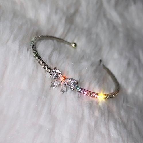 Cute Silver Bow Bracelet