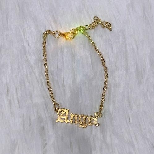 Gold Angel Anklet