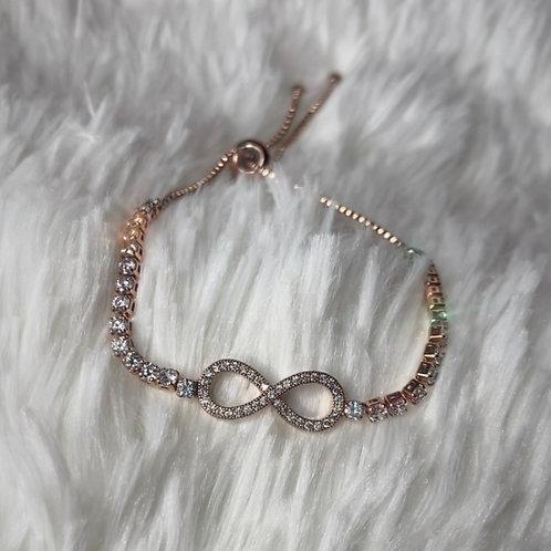 Rose Gold Infinity Bracelet