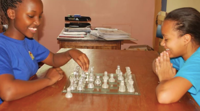 Students perfecting their chess skills