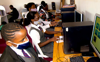 Students in the computer lab