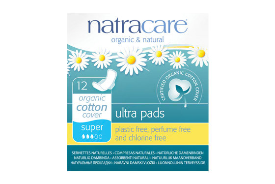 Natracare Super Ultra pads with Wings
