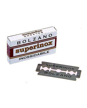 5 Bolzano SuperInox Stainless Double Edge Razor Blades
