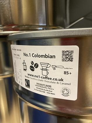 No.1 Colombian Coffee Beans (strength 3) Single Origin 100g