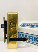 Marks mortise lock lever set