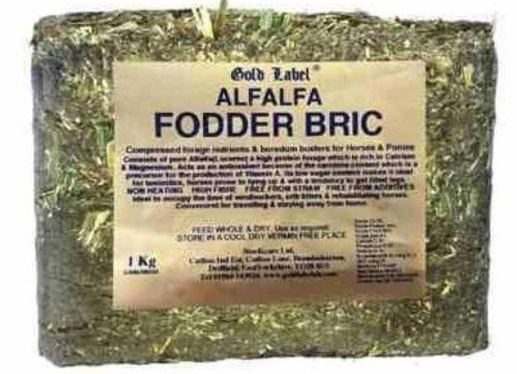 Alfalfa Fodder Bric 1kg (Gold Label)