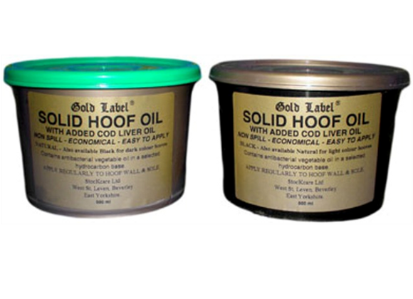 Gold Label SOLID Hoof Oil 500ml