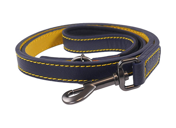 Joules Leather Dog Lead Navy