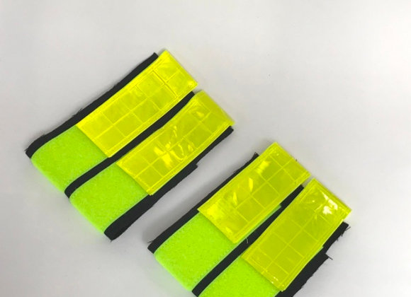 Reflective Leg Bands - Yellow