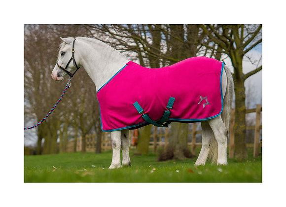 Hy Zeddy Fleece Rug Flamingo Pink