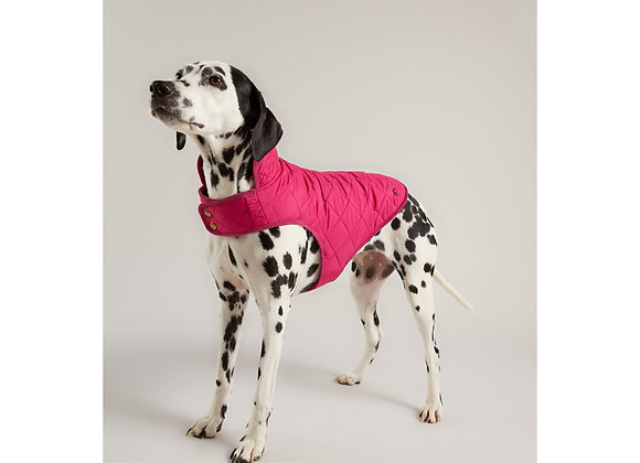 Joules Quilted Dog Coat Pink