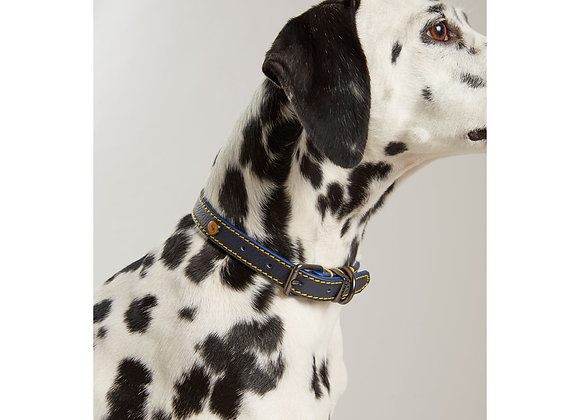 Joules Leather Dog Collar Navy