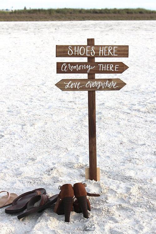 Shoe Valet Sign