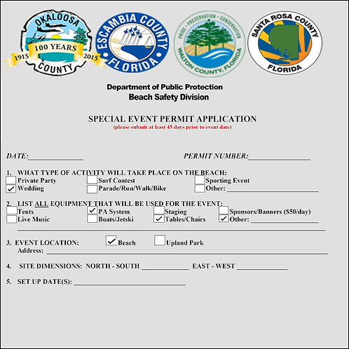 Beach Wedding Permit