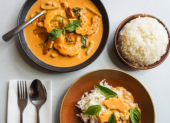 Squash Curry with Chicken/Tofu