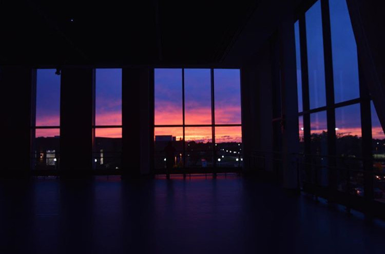 Sunset from Merrins Dance Theatre