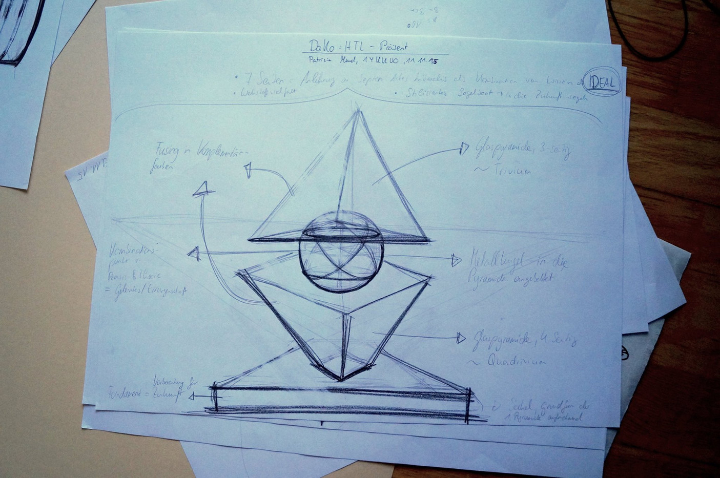 Entwurf für ein Präsent der HTL Kramsach
