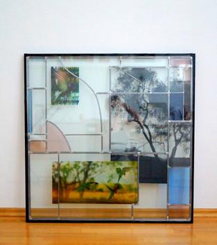 Dreifachverglastes Fenster mit Siebdruck