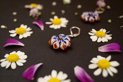 Ohrhänger Lavendel-Braun