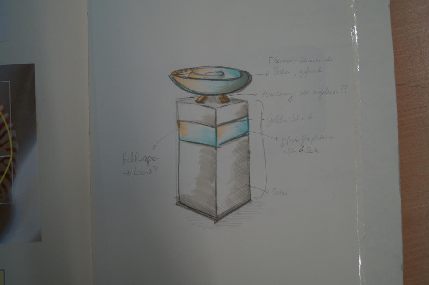 Entwurf Taufbecken