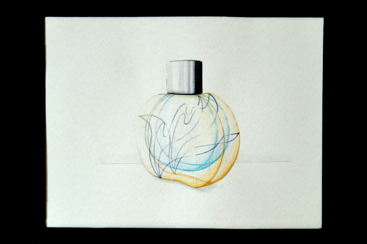 Entwurf für ein Parfumflacon