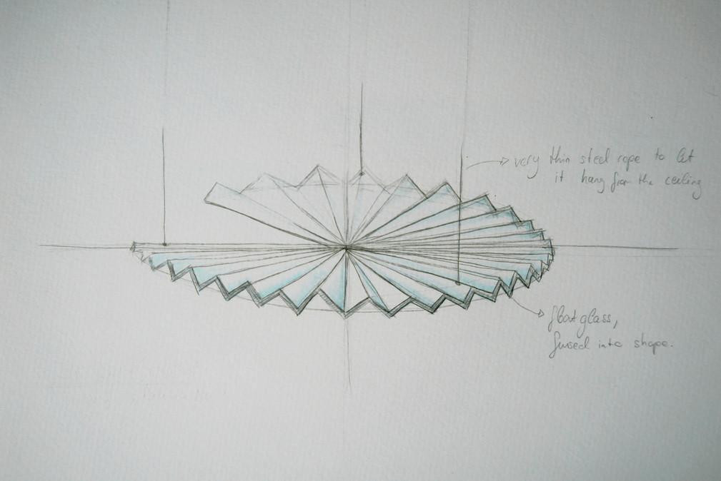Entwurf für eine Lichtinstallation (Detail)