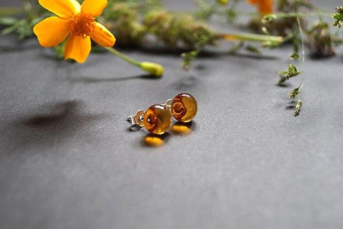 Ohrstecker honigfarben hell