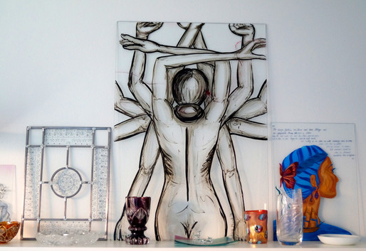 Kintsugi auf Glas übertragen II