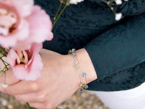 "Armband ""Konfetti"" in Aqua, Grün und Rosé"