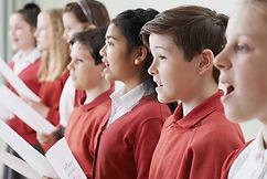 Děti zpívají ve sboru