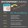save the date for enterprise funding annual meeting march 2019 commercial mortgage lender small business sba 504 loan loans inland empire high desert southern california coachella valley los angeles