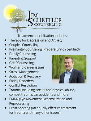 jim schettler counseling therapy anxiety family trauma emdr brain spotting eating disorders mental health stress nashville tn