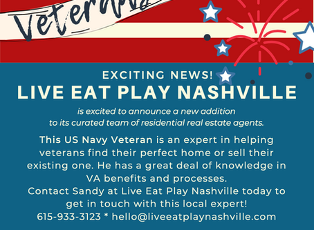 US Navy Veteran and VA Expert Working With Live Eat Play Nashville Residential Home Buyers