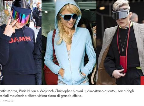 Celebrity, Plastic Martyr, spotted in Cosmopolitan IT wearing Bluestone Sunshields